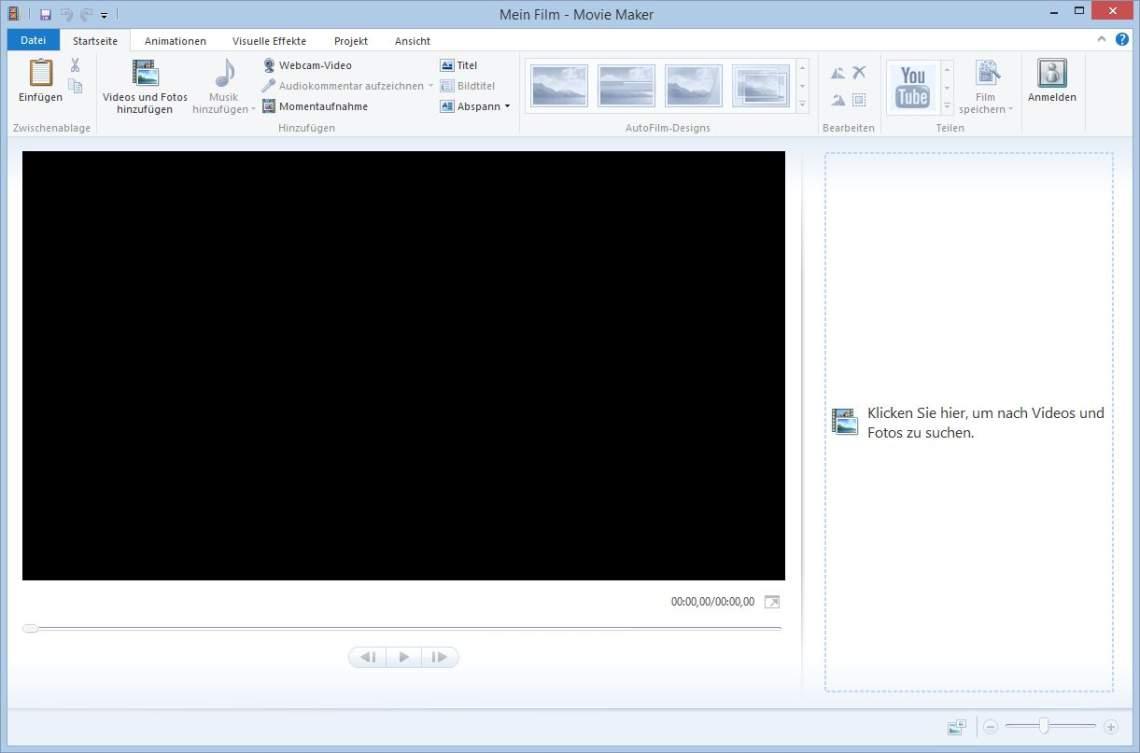 Windows Movie Maker - Start