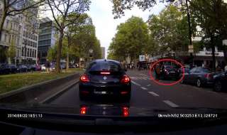 Dashcam filmt Apple-Räuber