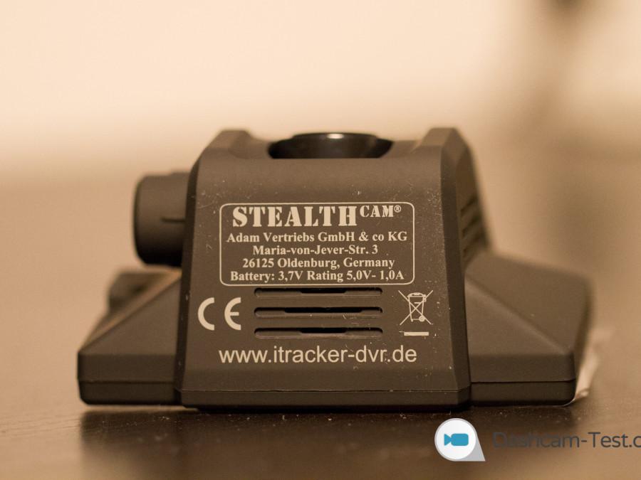 iTracker STEALTHcam - Ansicht Unten
