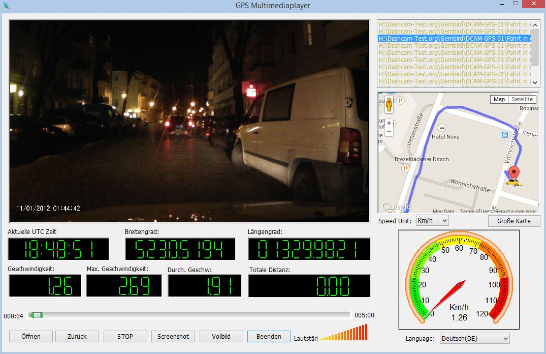 GPS Multimediaplayer