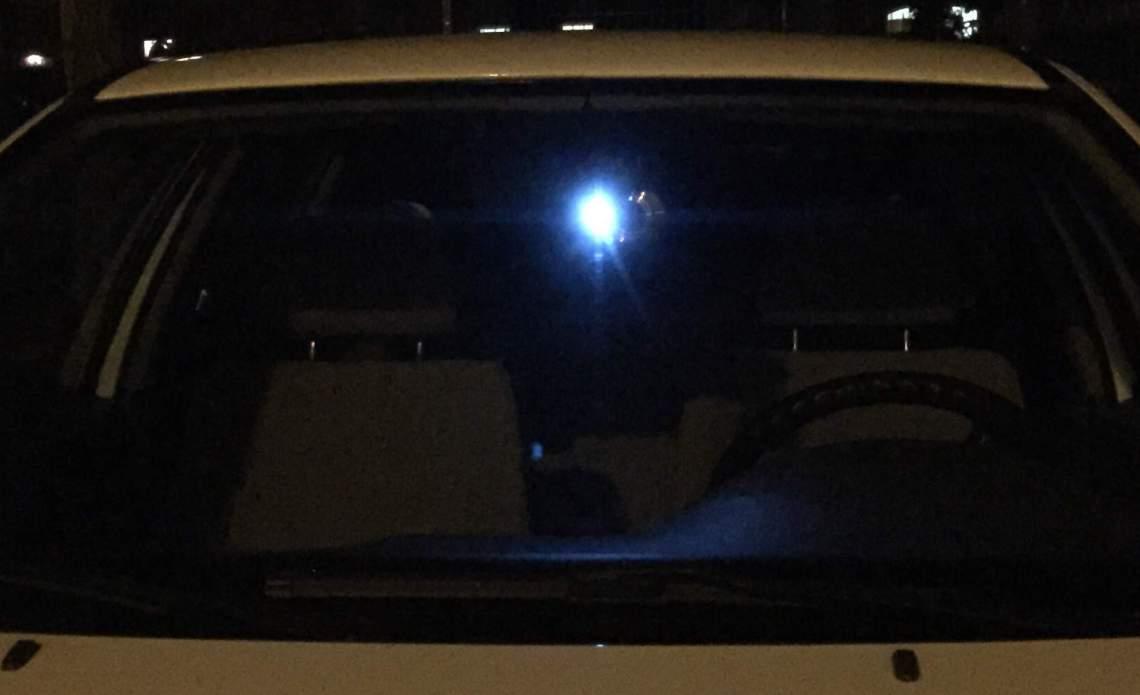 GEMBIRD DCAM-GPS-01 mit eingeschaltetem LED Lich